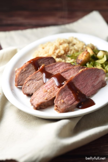 This Teriyaki Barbecue Roasted Tri-Tip is coated with a sweet and tangy glaze and spicy dried garlic. You can't beat the ease of only 4 ingredients and 5 minutes of prep. And it slices like butter!