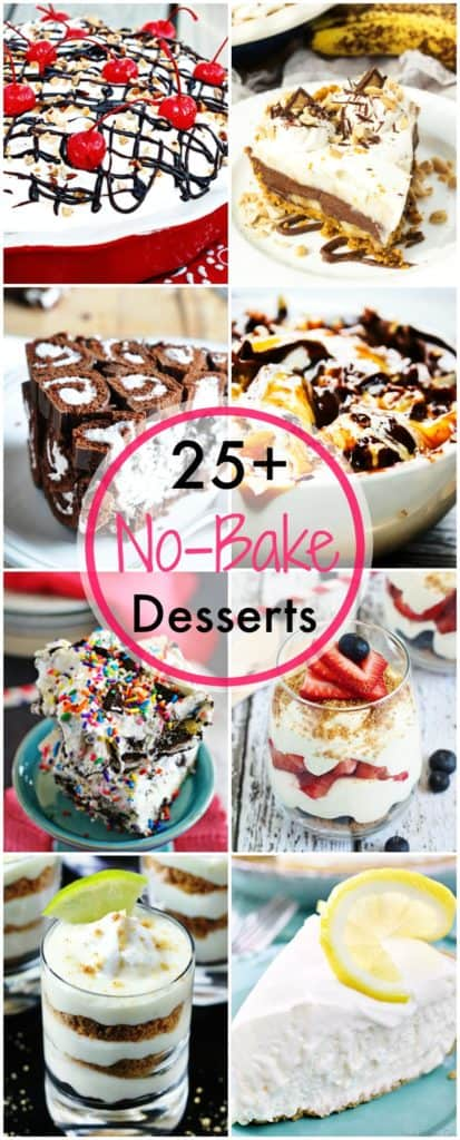 Over 25 recipes that require no baking. Perfect for summer!