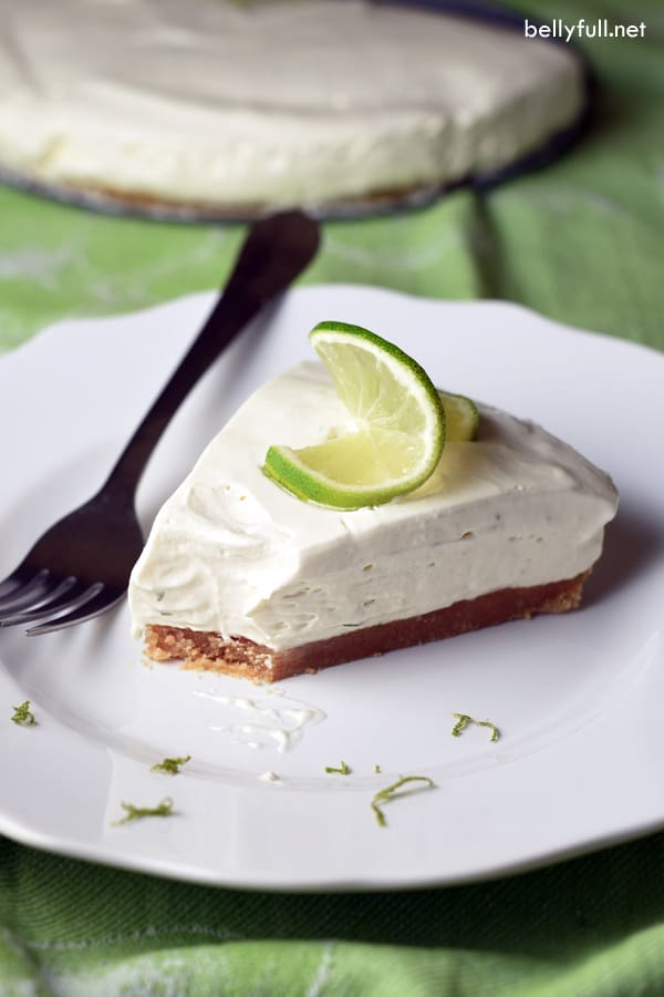 This No-Bake Key Lime Pie is sweet, tangy, and silky. Only requiring 6 ingredients and no cooking, it's perfect for summer!