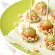 caramel apple grapes on parchment paper