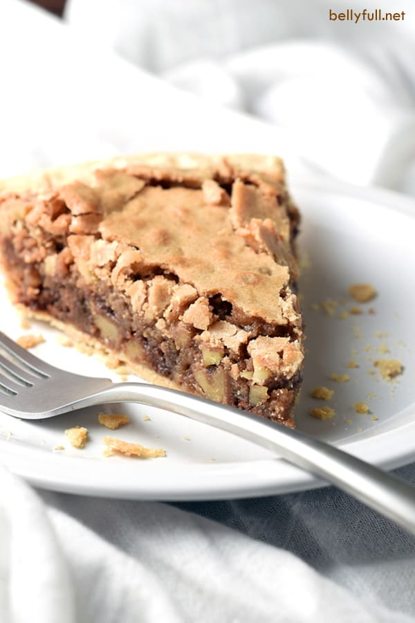 A chocolate chip cookie in pie form. Super easy, rich, and perfect served with vanilla ice cream.