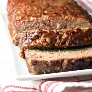This Honey Chipotle Meatloaf is where it's at! Coated with a fabulous sweet and spicy glaze and only takes 10 minutes to prepare!