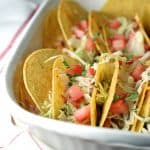 These Easy Oven Baked Pork Tacos are so simple, filling, and perfect for a crowd or family weeknight dinner!