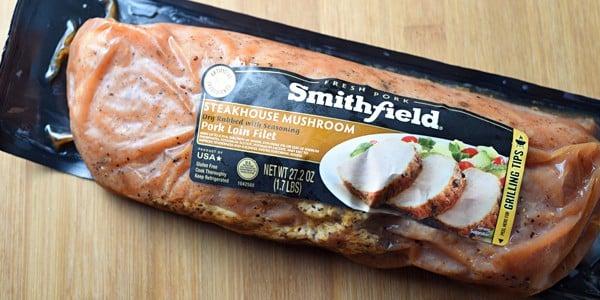 Smithfield Steakhouse Mushroom Pork Tenderloin