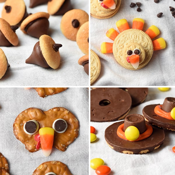 Pilgrim Cookie Hats Chocolate Acorns Pretzel Turkeys And Oreo Are The Cutest