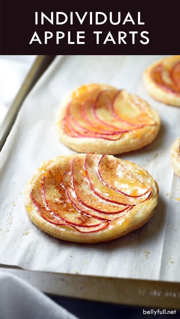 These Individual Apple Tarts are light, sweet, and delicious. They're incredibly easy, but look so fancy!