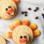 Oreo Turkeys are the cutest Thanksgiving treat! No oven required and they take only minutes to make!
