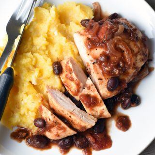 Slow Cooker Tomato-Balsamic Chicken