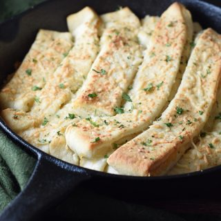 Cheater Skillet Breadsticks