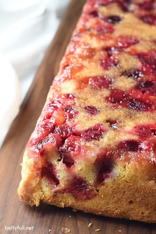 baked upside down cranberry quick bread
