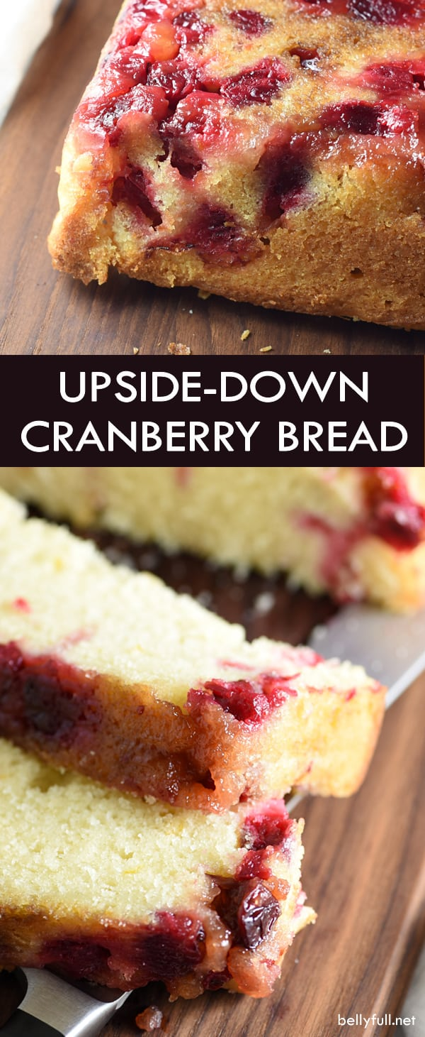 upside down cranberry quick bread