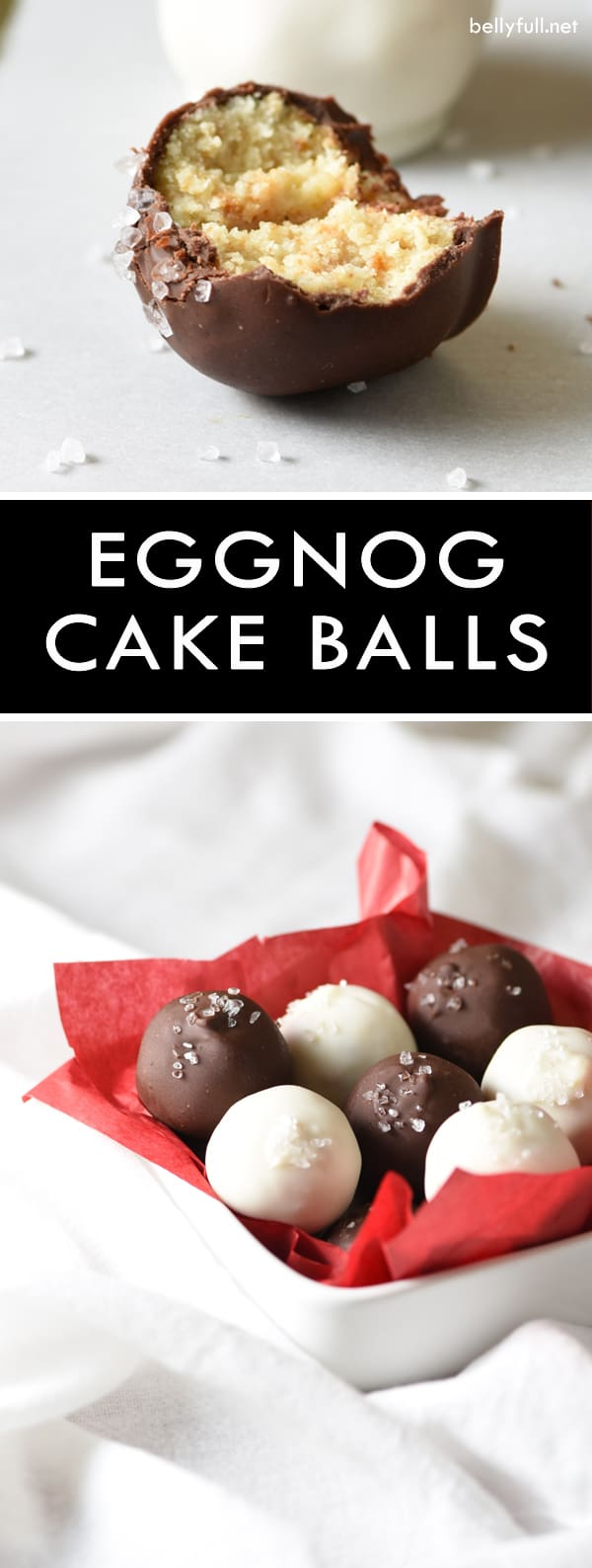 These scrumptious Eggnog Cake Balls are a perfect little treat that can be made up to a week ahead of time. They are sure to be a hit at your next holiday party! #NextDoorChef