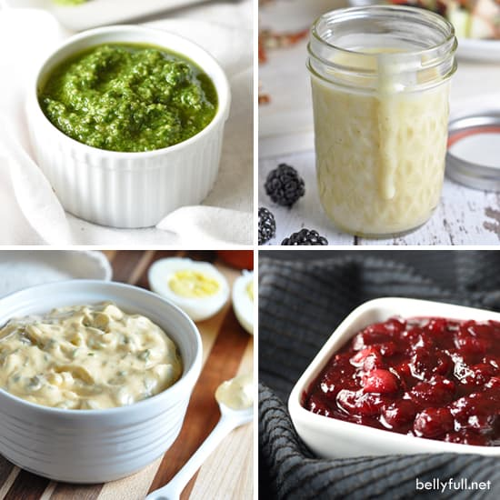 4 of the simplest, yet delicious sauces that can be made in minutes and transform ordinary pasta, salads, soups, or meat!