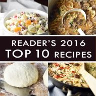 TOP 10 Reader's Favorite Recipes of 2016 from bellyfull.net