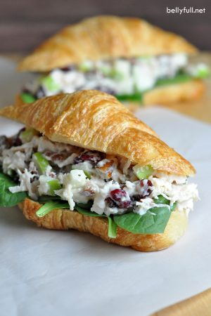 Chicken Salad Sandwich With Cranberries Apples And Pecans