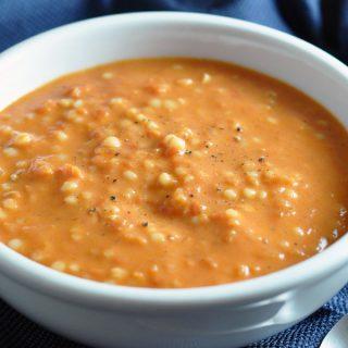 Easy Tomato Soup with Acini di Pepe Pasta