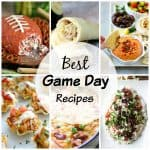 Here are over 20 delicious recipes perfect for Game Day, including dips, chicken fingers, deviled eggs, pizza bombs, meatballs, and more!