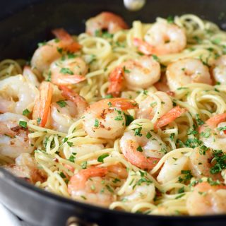Orange-Balsamic Shrimp Pasta