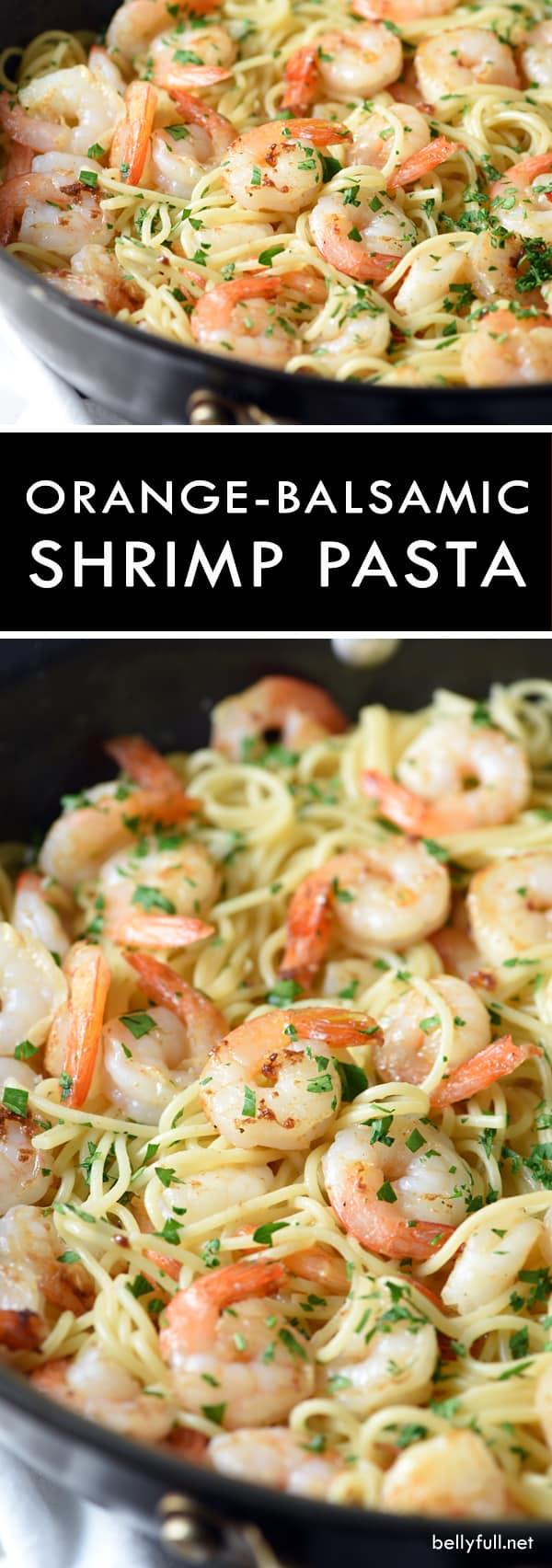 Orange-Balsamic Shrimp Pasta