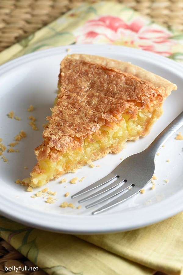picture of french coconut pie slice