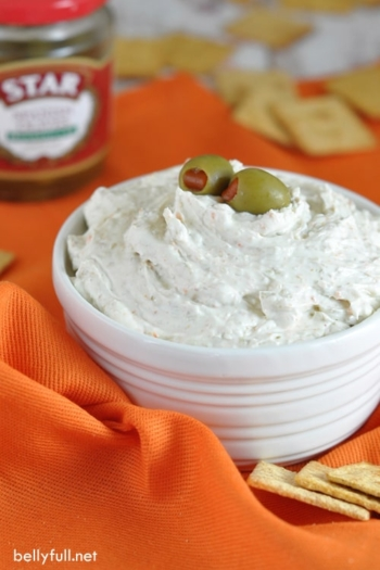 Olive Spread - this 5-minute spread is perfect for game day, an after school snack, or a last minute bite if you have unexpected guests!