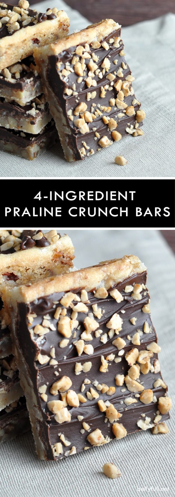 Praline Crunch Bars - only 4 ingredients in this easy and fantastic treat!