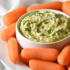 This simple White Bean Dip comes together in minutes and is a perfect healthy delicious snack!