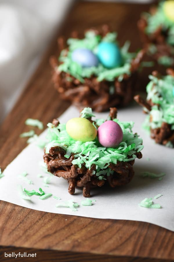 These Bird's Nests are the cutest for spring or Easter. They're super easy and require no cooking!