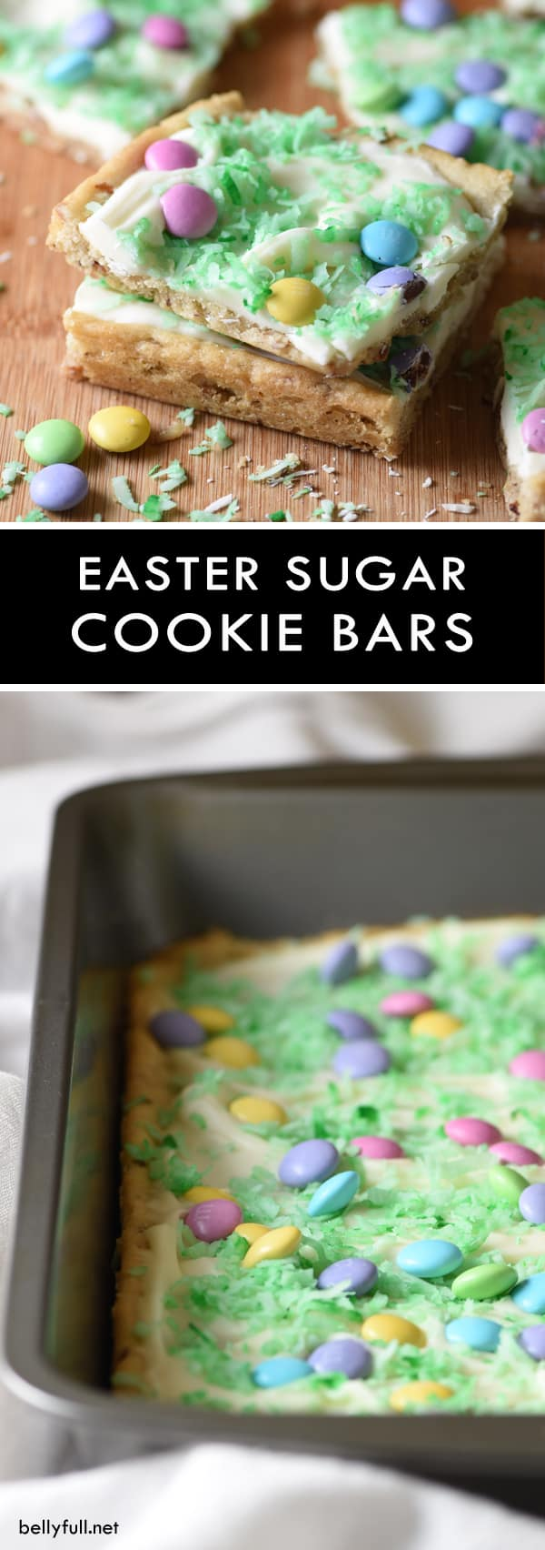 picture of sugar cookie bars for Easter