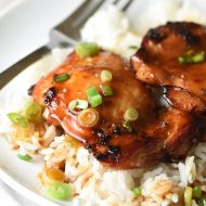 Grilled Hawaiian Chicken Thighs - craving Hawaiian barbecue, but aren't in Hawaii? This is the next best thing.