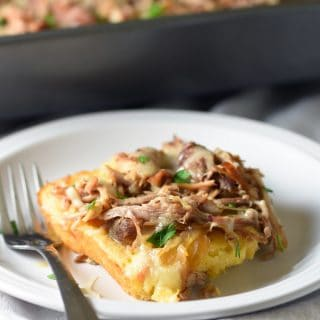 Sweet & Smoky Pulled Pork Cornbread Casserole
