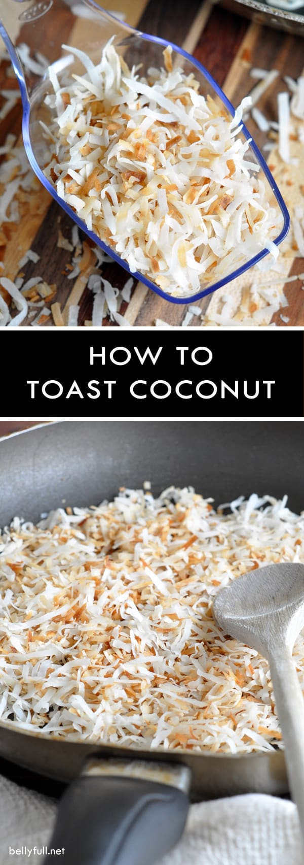 Toasting coconut lends a richer nuttier taste, crunchier texture, and a beautiful golden hue that makes your coconut pie, cake, bars, or macaroons pop!