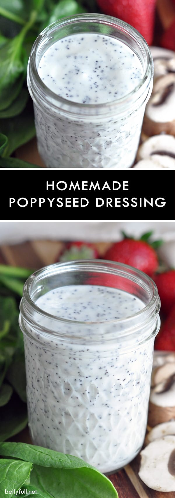 picture of homemade poppyseed salad dressing in a jar