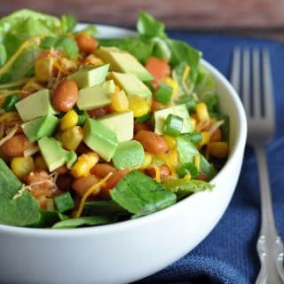 This Southwestern Chopped Salad is refreshing, colorful, bursting with flavor, and comes together in minutes!