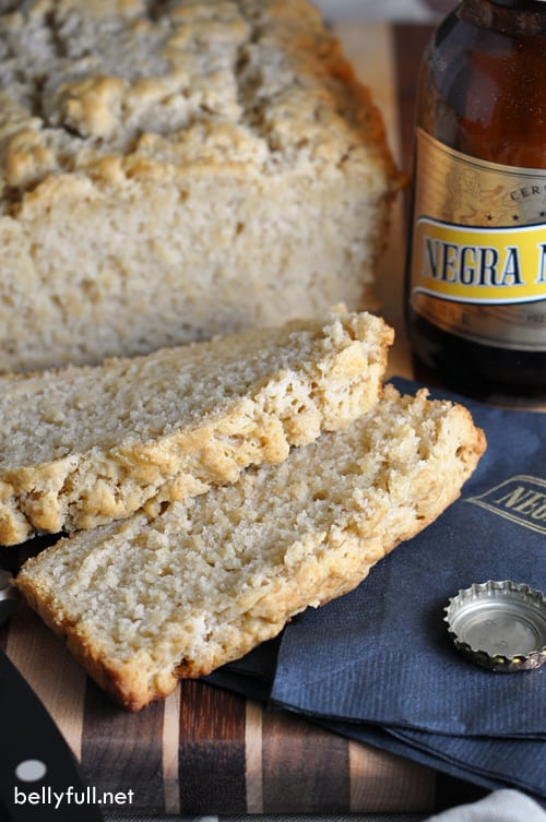 sliced homemade Beer Bread