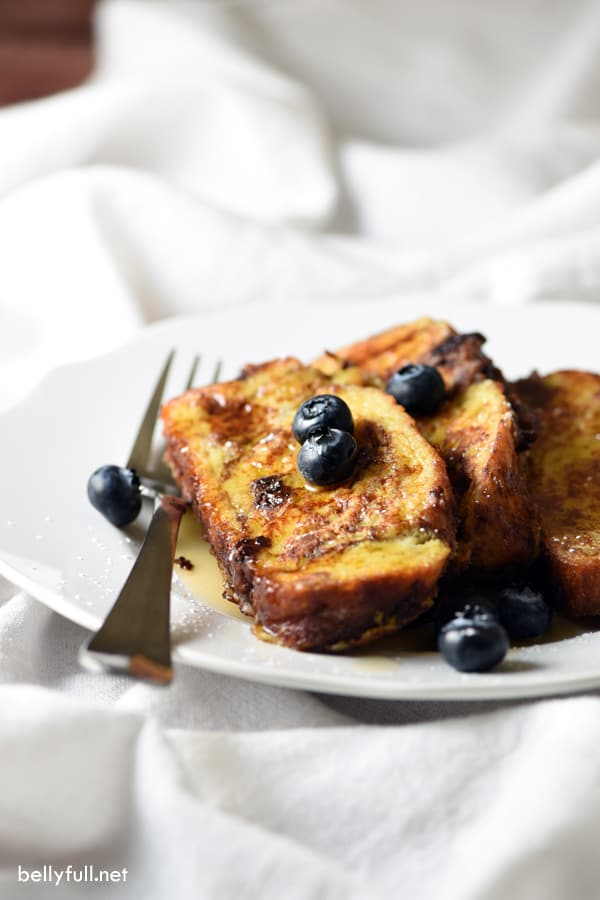 Chocolate Challah French Toast Belly Full
