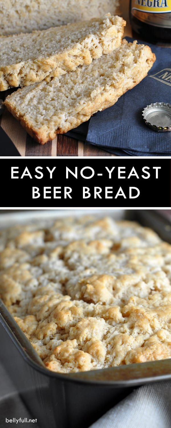Easy Homemade Beer Bread with brown sugar and a crispy buttery crust