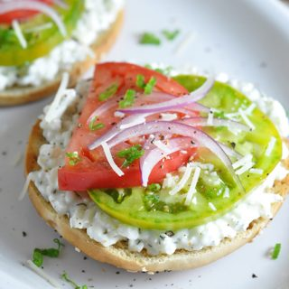 Open-Faced Heirloom Tomato Sandwich