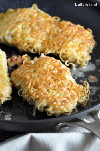 Ramen Wrapped Cod with Cajun Spice - take boring fish up a few notches by adding delicious cajun seasoning, and wrapping it in ramen noodles for some crunch…and fun!