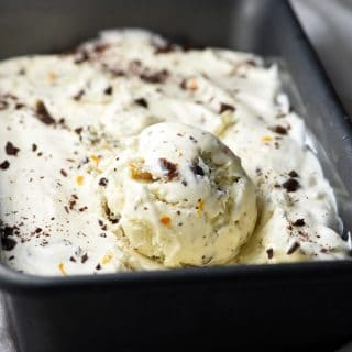 No-Churn Chocolate Rum Raisin Ice Cream