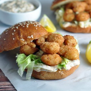 Shrimp Po' Boy Sandwiches - baked breaded shrimp and a homemade tartar sauce make up this easy and delicious version of the classic Louisiana Po' Boy sandwich.