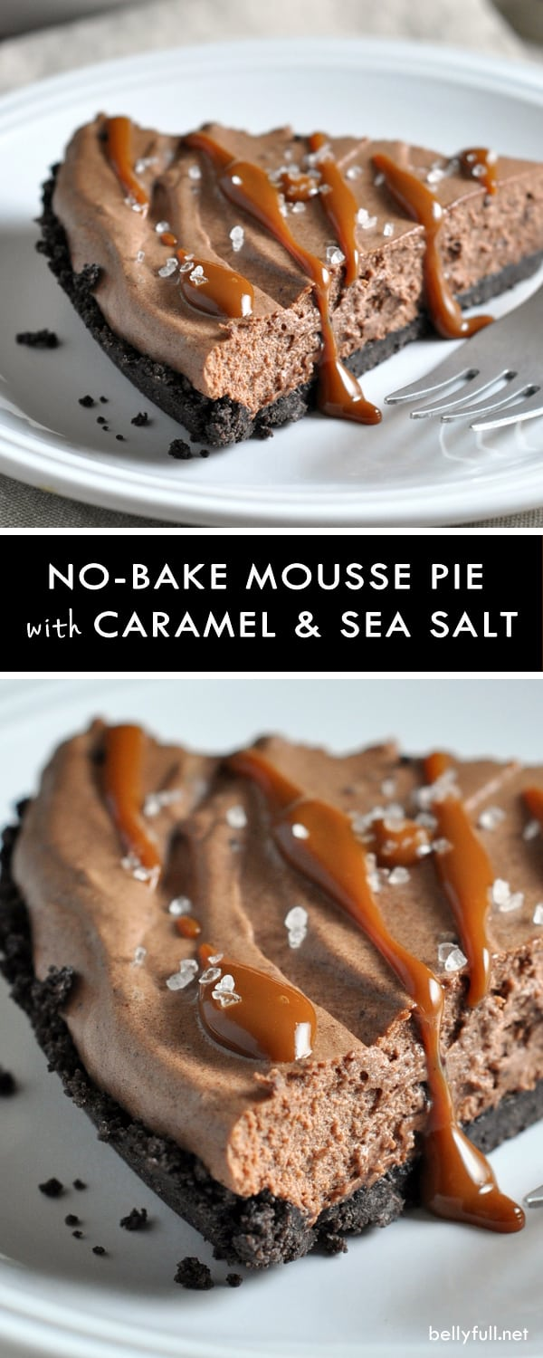 Chocolate Mousse Pie with Caramel Drizzle