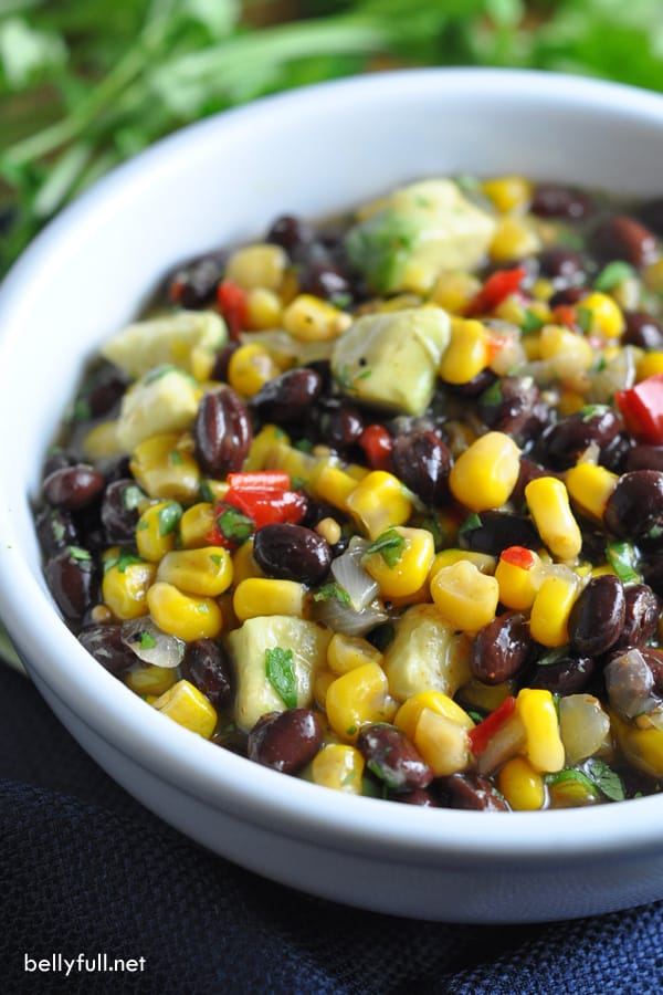 A sweet, sour, and a little bit spicy corn bean salsa that comes together in 5 minutes!