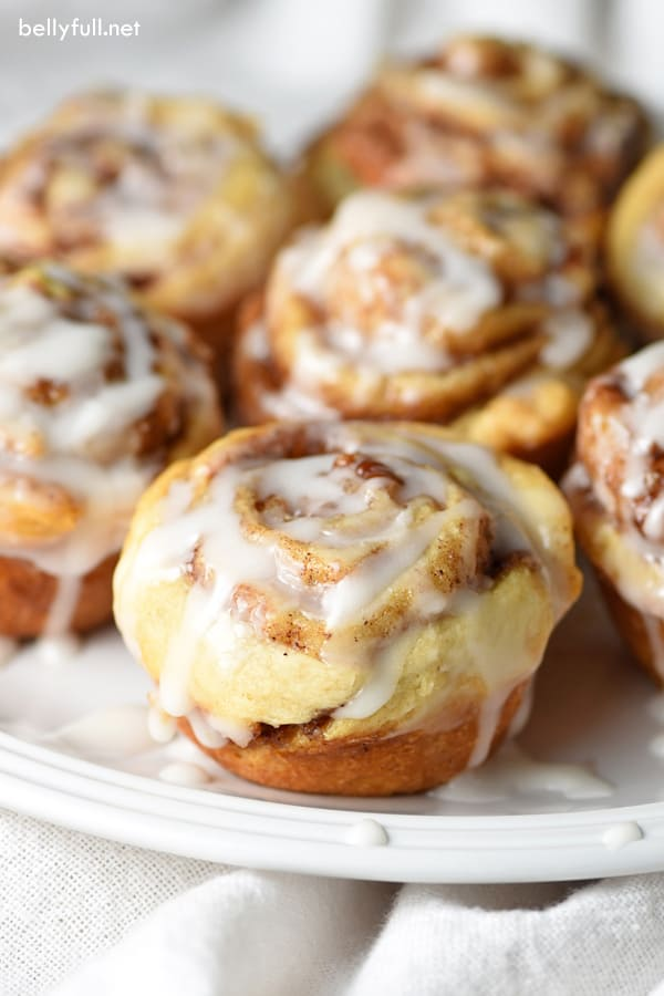 Mini Cinnamon Rolls - cinnamon rolls, in bite-sized form. So easy and fast, you'll be tempted to make them every single morning.