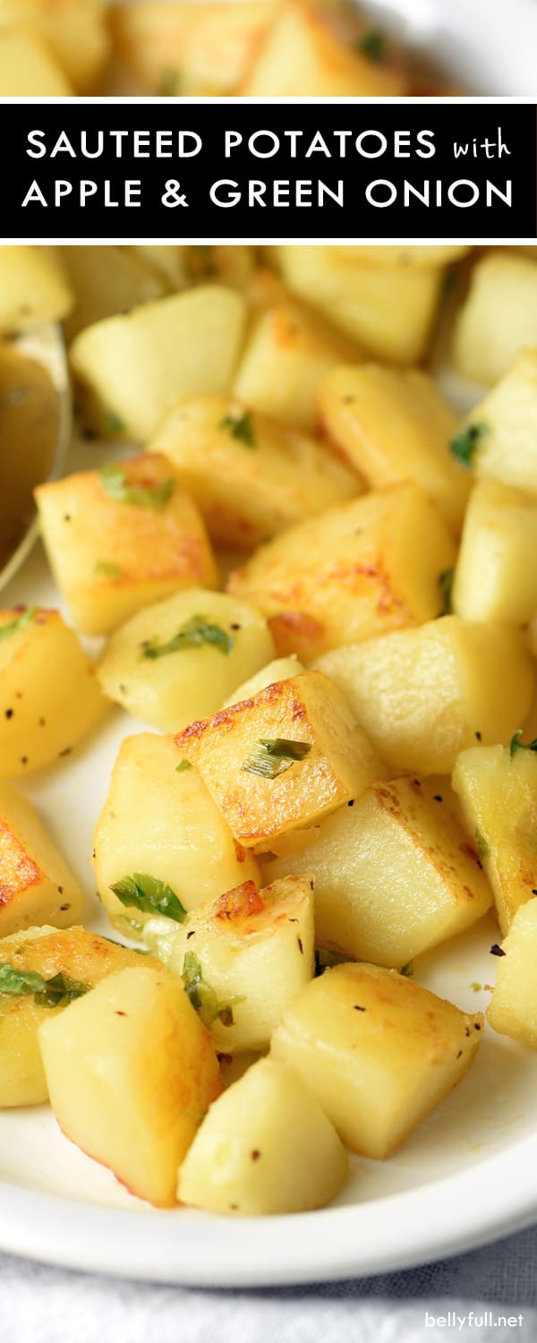 Potato and Apple Home Fries - crispy potatoesand tart apples pair well with eggs, chicken, steak, and pork. So satisfying bite after bite!