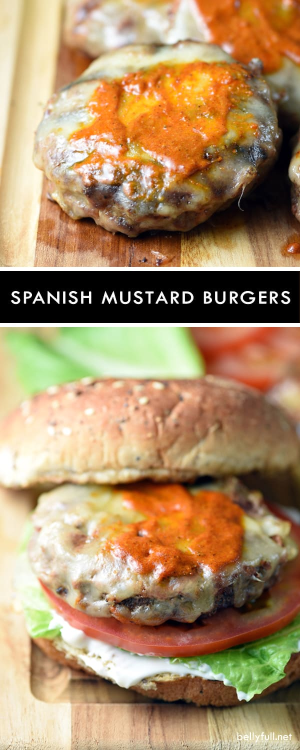 These burgers seasoned with mustard, sherry vinegar, and smoked paprika are summertime grilling perfection!