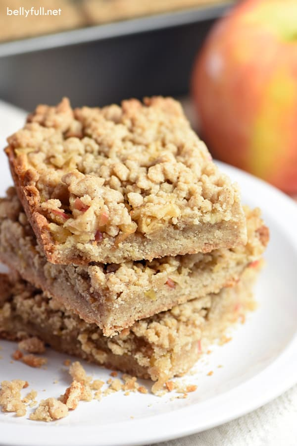 three stacked Apple Pie Bars
