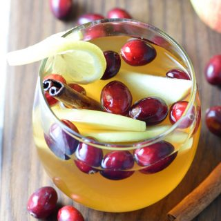 The best Fall flavors come together in this crowd-pleasing festive Sangria!
