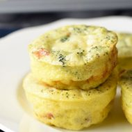 These Muffin Tin Breakfast Frittatas are perfect for on the go mornings and are easily customizable!