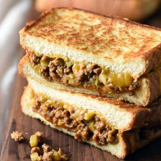 Dill Pickle Sloppy Joe Grilled Cheese